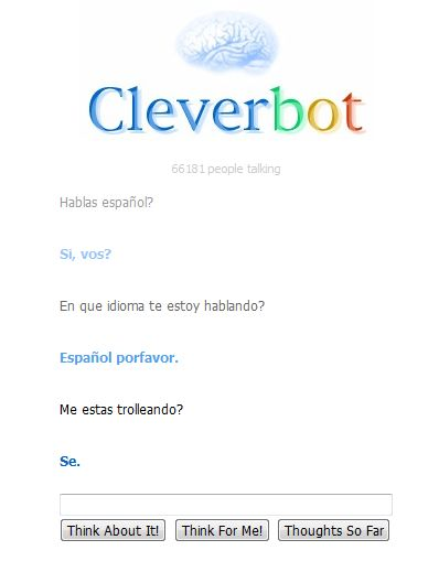 Trollee a Cleverbot y este me Trolleo